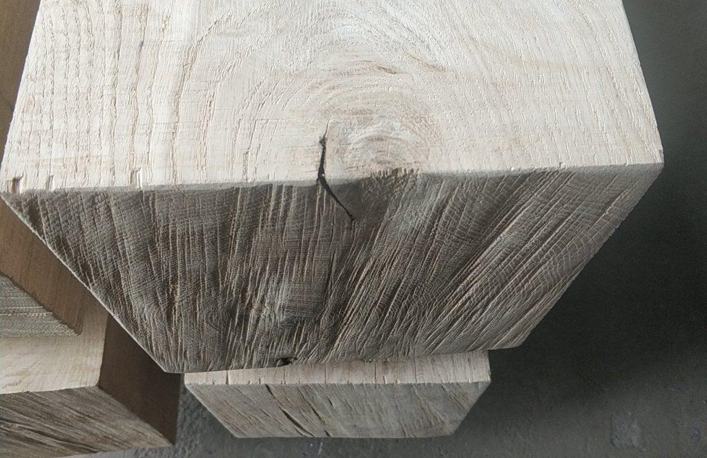 Belki drewniane dębowe oszlifowane